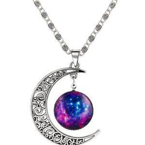Glamorous Sun Moon Silver pendant Necklace
